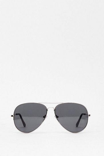 Silver Smoke the Competition Aviator Sunglasses