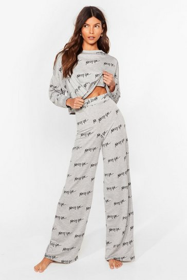 Grey Nothing But a Nasty Gal Wide-Leg Lounge Set