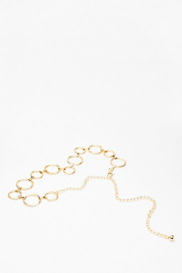 Gold Moving in Circles Chain Belt