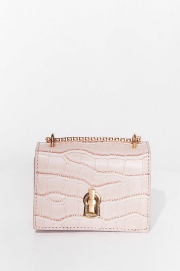 Nude WANT Croc It Off Faux Leather Crossbody Bag