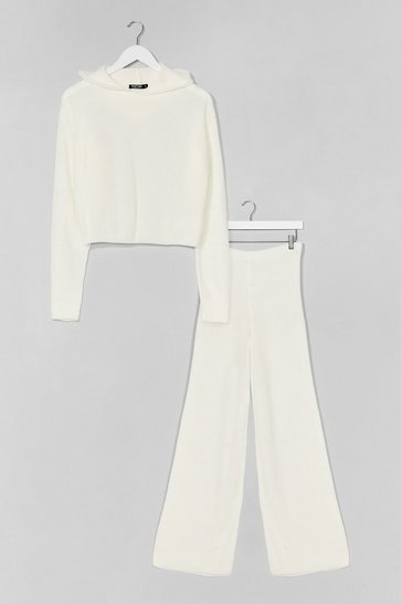 Cream The Hood Life Knit Hoodie and Pant Lounge Set
