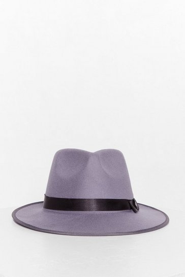 Stone I Spy Faux Wool Fedora Hat