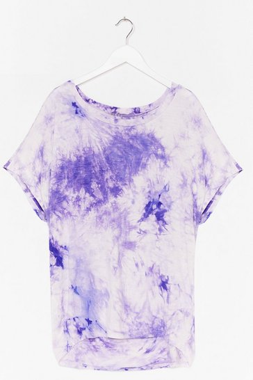 Lilac Bright Ideas Relaxed Tie Dye Tee