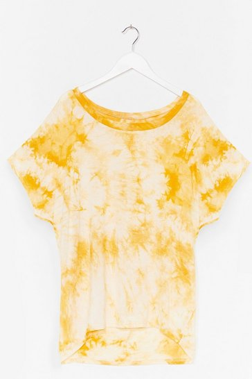 Yellow Bright Ideas Relaxed Tie Dye Tee