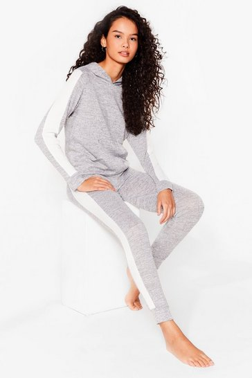 Grey Workin' Line to Five Knitted Joggers Lounge Set