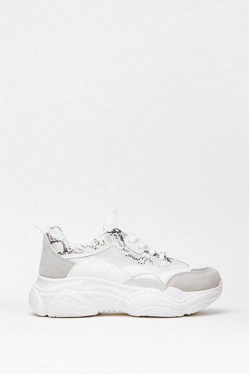 White Snake a Move Faux Leather Chunky Sneakers