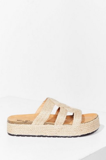 Natural The Way You Walk Woven Platform Sandals