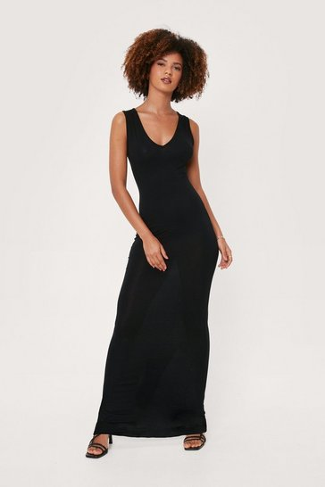 Black All I Need Relaxed Midi Dress