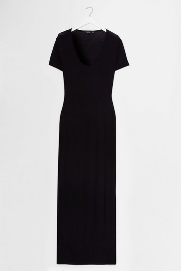 Black This One's on Tee Maxi Dress