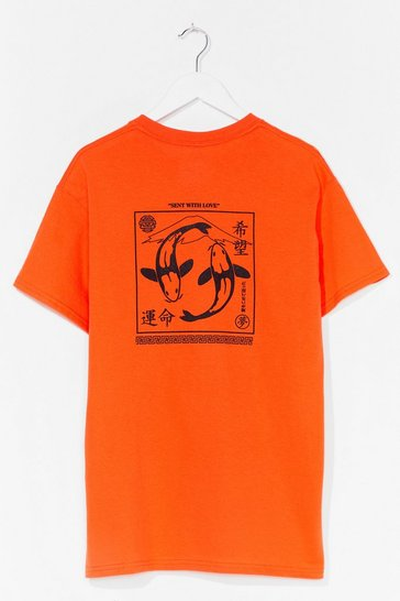 Orange Sent With Love Graphic Tee