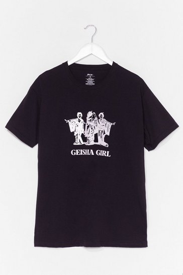 Black Geisha Girl Graphic Tee