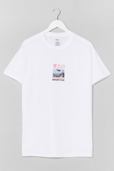 White Mount Fuji Graphic Tee