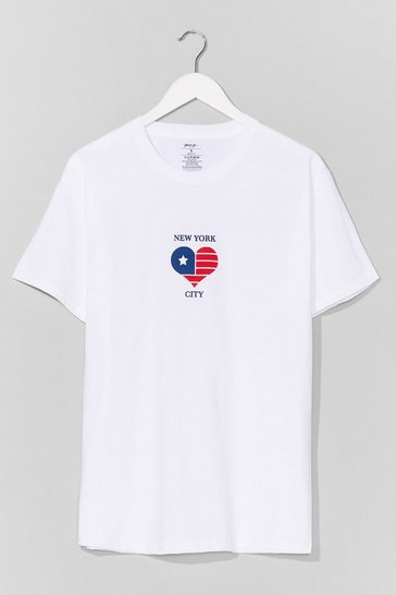 White New York New York Graphic Tee