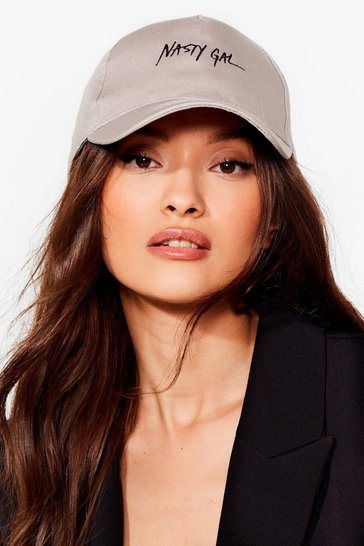 Grey On Brand Nasty Gal Cap