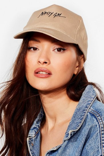 Khaki On Brand Nasty Gal Cap
