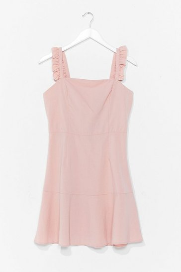 Blush Square Neck Tiered Mini Dress
