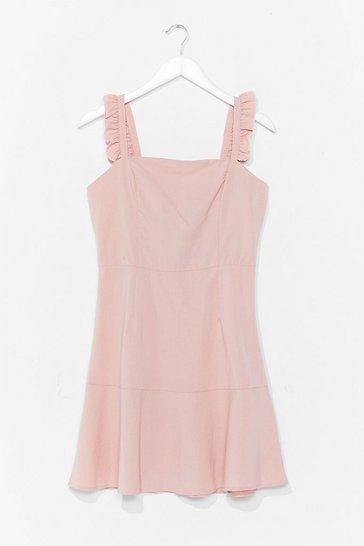 Blush Say You Frill Square Neck Mini Dress