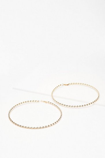 Gold Large Twist Hoop Earrings