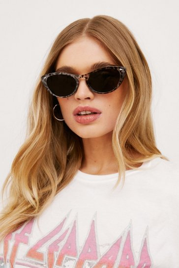 Grey Savannah Ooh Na-Na Leopard Cat-Eye Sunglasses