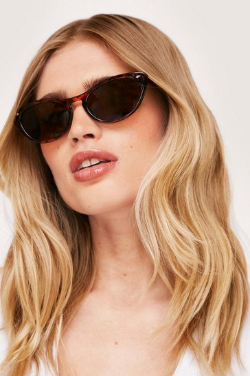 Brown Savannah Ooh Na-Na Leopard Cat-Eye Sunglasses