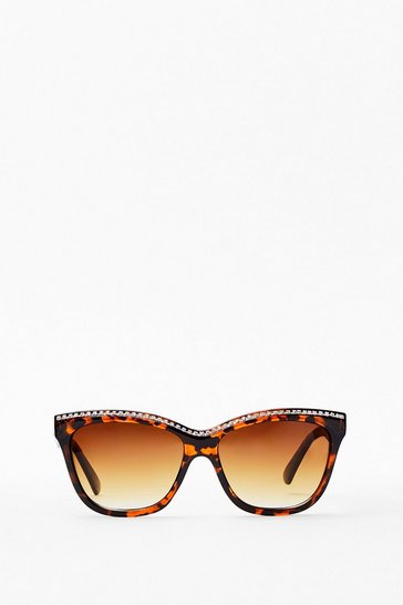 Brown So Edgy Leopard Cat-Eye Sunglasses