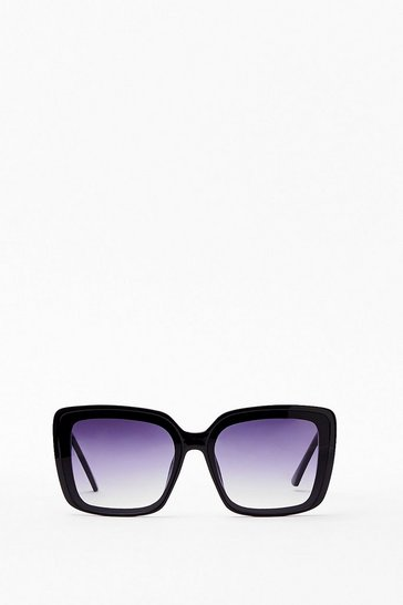 Black Large Square Sunglasses