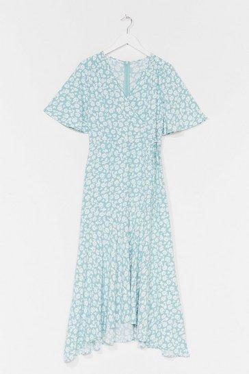 Mint You've Got It Bud Floral Midi Dress
