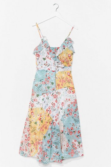 White Multi Talented Floral Midi Dress