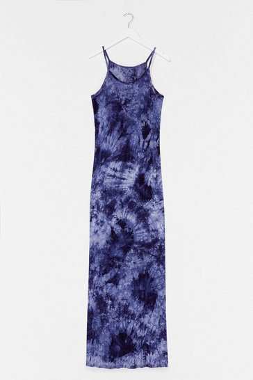 Navy Let the Good Times Roll Tie Dye Maxi Dress