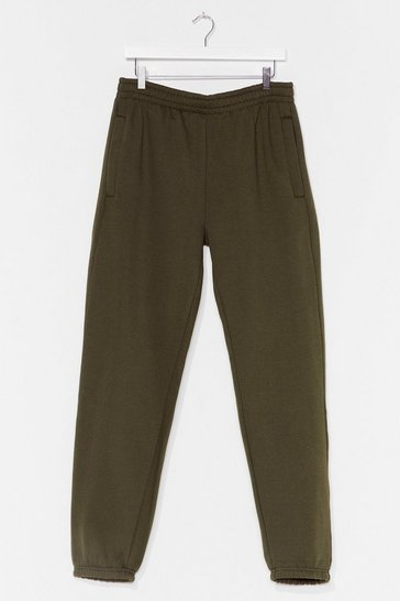 Military green Run Through It High-Waisted Joggers