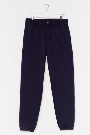 Navy Run Through It High-Waisted Joggers