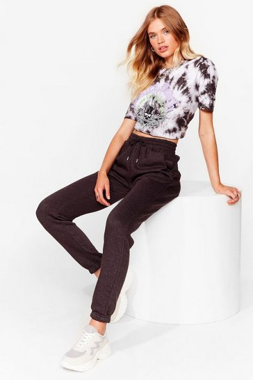 Charcoal Run Through It High-Waisted Joggers