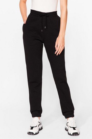 Black Run Through It High-Waisted Joggers