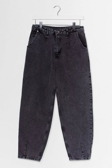 Grey Barrel of Laughs High-Waisted Jeans
