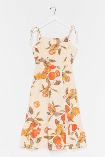 Natural Orange You Happy to See Me Mini Dress