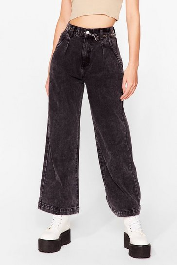 Washed black Acid Wash What Happens Relaxed Jeans