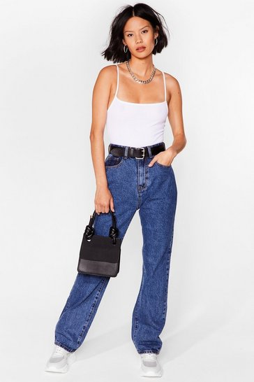 Dark blue Straight Leg Relaxed Jeans