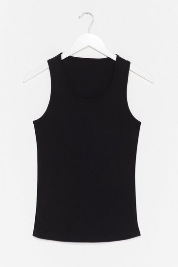 Black Totally Invested Jersey Tank Top