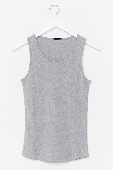 Grey Totally Invested Jersey Tank Top