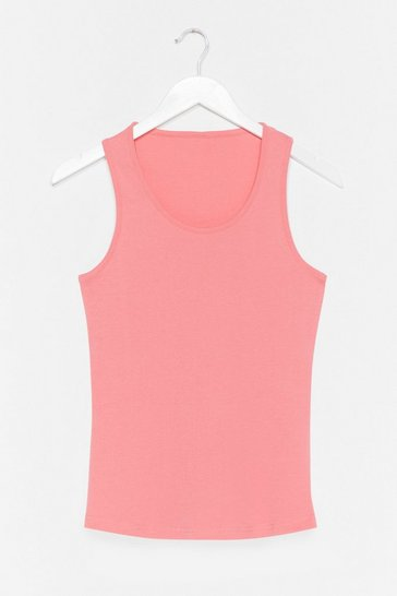 Coral Totally Invested Jersey Tank Top