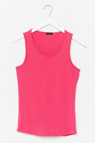 Fuchsia Totally Invested Jersey Tank Top