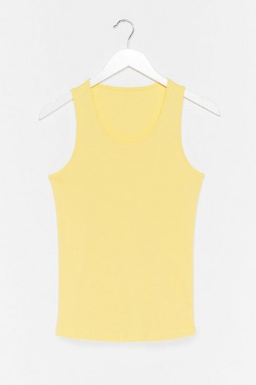 Lemon Jersey Scoop Neck Vest Top