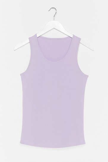 Lilac Totally Invested Jersey Tank Top