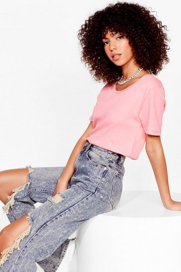 Lemon Scoop Neck Relaxed T-Shirt