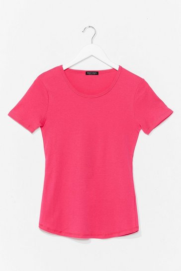 Fushia How We Tee It Relaxed Tee