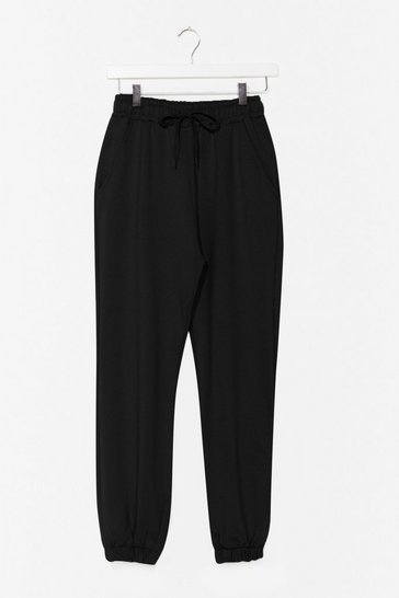 Black It'll Work Out High-Waisted Joggers