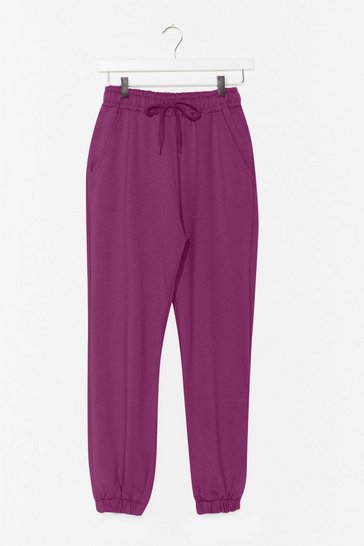 Purple It'll Work Out High-Waisted Joggers