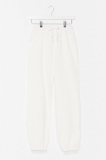 White It'll Work Out High-Waisted Joggers