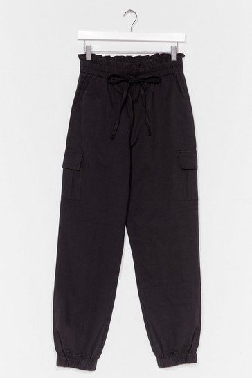 Black Drawstring high waist trouser