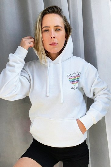 White All in This Together Charity Graphic Hoodie